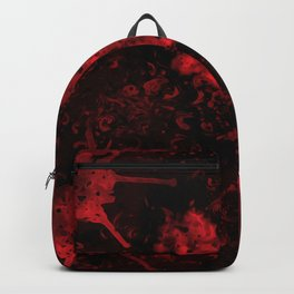 Red Black Drips Abstract Backpack