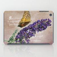 bible verse iPad Cases featuring Amazing Grace - Verse by Anita Faye