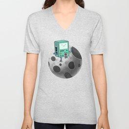 BMO on the Moon Unisex V-Neck