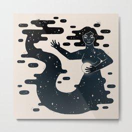 Space Mermaid Metal Print