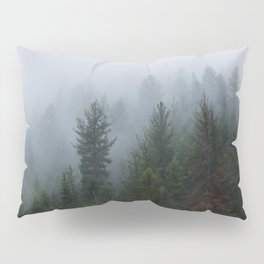 Into the Deep, Foggy, Forest Pillow Sham