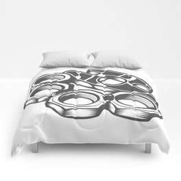 "Fashion Modern Design Print ""Brass Knuckles""! Rap, Hip Hop, Rock style and more Comforters"