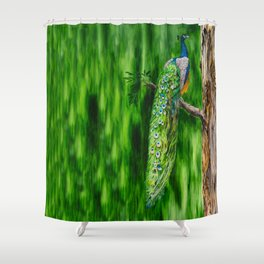 Peacock's Pride by Teresa Thompson Shower Curtain