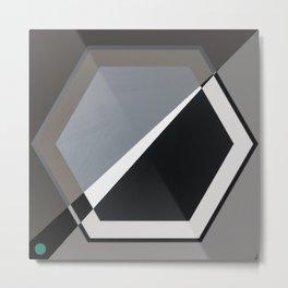 London - hexagon Metal Print