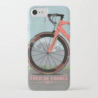 brompton iPhone & iPod Cases featuring Tour De France Bike by Wyatt Design