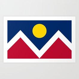 Denver, Colorado city flag - Authentic High Quality Art Print