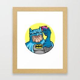 #Batface Framed Art Print