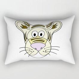 Hand drawn funny looking tiger Rectangular Pillow