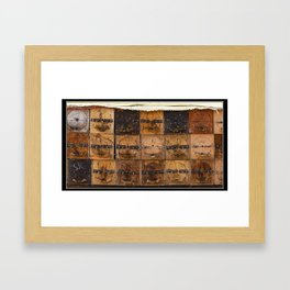 Bee Hives Framed Art Print