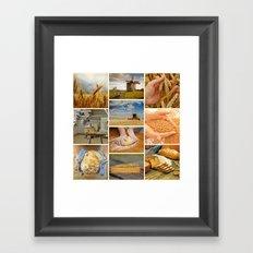 Wheat Bread Collage - Restaurant or Kitchen Decor Framed Art Print