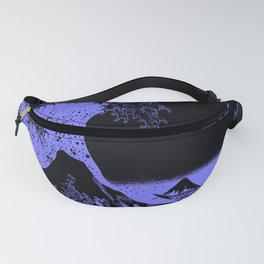 The Great Wave Periwinkle Lavender Fanny Pack