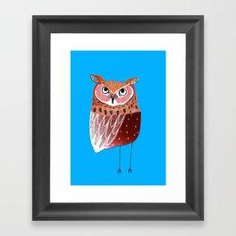 Eared Owl. Framed Art Print