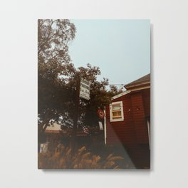 Pacific Grove Cafe, Monterey, CA Metal Print