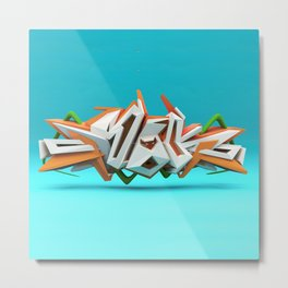 Graffiti letters 3D Metal Print