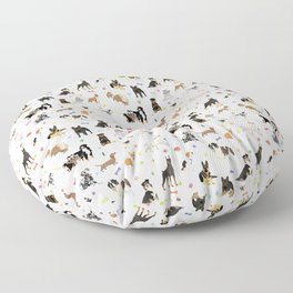 Various Dogs Pattern Floor Pillow