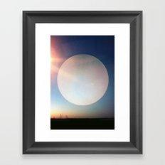 Artificial Moon Framed Art Print
