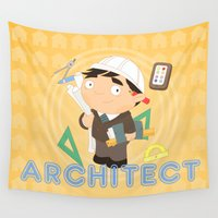 architect Wall Tapestries featuring Architect by Alapapaju