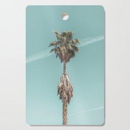 Malibu Beach Palm // California Beach Vibes Teal Ocean Sky Jetstream Photograph Cutting Board