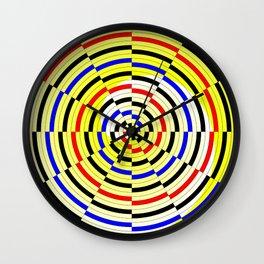 Yellow Spiral Wall Clock