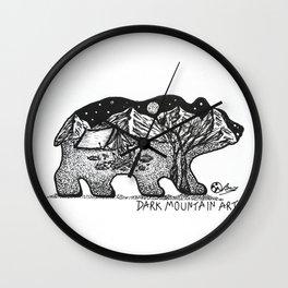 """Wander Bear"" Hand-Drawn by Dark Mountain Arts Wall Clock"