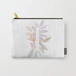 Rustic Initial I - Fall Leaves and Branches Carry-All Pouch