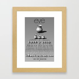 eve and her daughters Framed Art Print