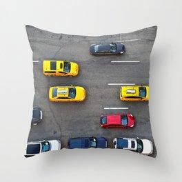 NYC Traffic Throw Pillow