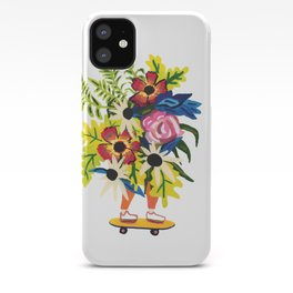 Skate Board Floral Babe iPhone Case