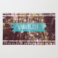 wanderlust Area & Throw Rugs featuring Wanderlust by AA Morgenstern