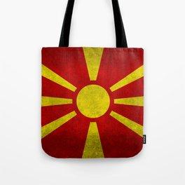 "Flag of Macedonia in ""Super Grunge"" Tote Bag"
