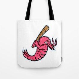 Jumbo Shrimp Baseball Mascot Tote Bag