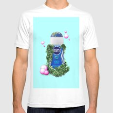 ARMPIT DEODORANT - NATURE EARTH White MEDIUM Mens Fitted Tee
