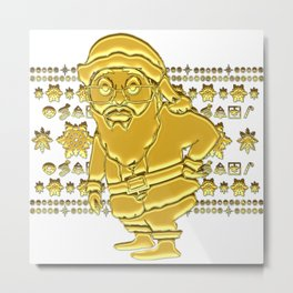 ***Get It Now*** 24 Karat  MoCKiNg SaNta! Metal Print