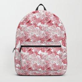 Floral Waves Pattern Backpack