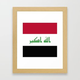 Iraq flag emblem Framed Art Print