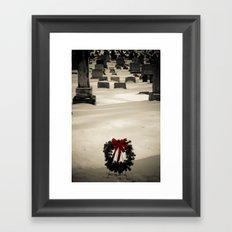 Christmas Grave Framed Art Print