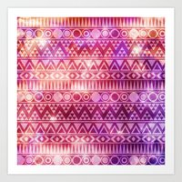 Tribal Fire. Art Print