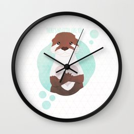 There's no Otter like you Wall Clock