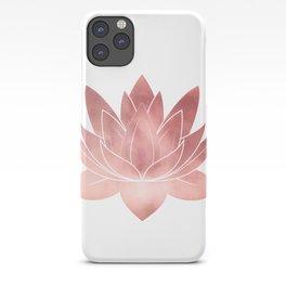 Pink Lotus Flower | Watercolor Texture iPhone Case