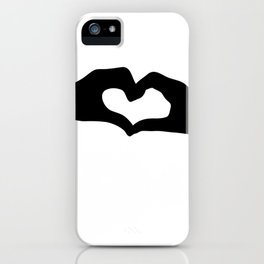 Hearts out of Hands - Silhouette iPhone Case