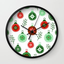 Christmas Decorations Pattern Wall Clock