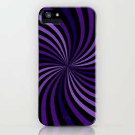 Purple Hypnotizing Swirl iPhone Case