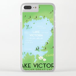 Lake Victoria Map Clear iPhone Case