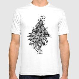 Ornate tangle wave form T-shirt