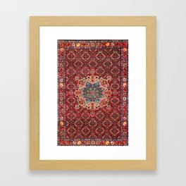Bijar Kurdish Northwest Persian Rug Print Framed Art Print