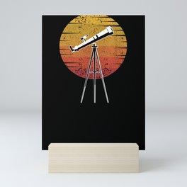 Telescope Retro Astronomy Solar System Science Mini Art Print