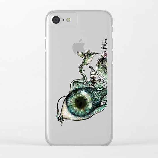 Flowing Inspiration Clear iPhone Case