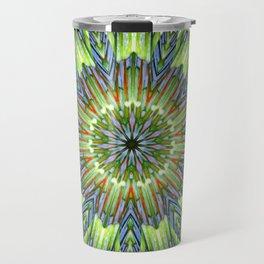 Greinnaia Abstract Flower Travel Mug