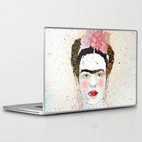 frida kahlo Laptop & iPad Skins featuring Frida Kahlo  by Marttala
