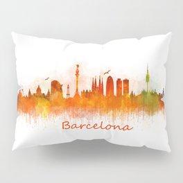 Barcelona City Skyline Hq _v3 Pillow Sham